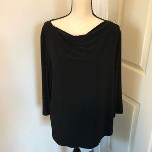 Brittany Black woman 3/4 sleeve black blouse 👚 XL